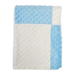 Boritar Baby Blanket/Crib Quilt with Minky Raised Dotted Sup