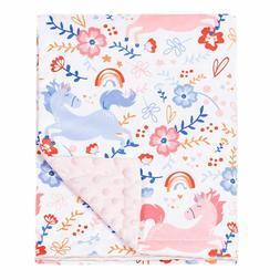 Baby Blanket Double Layer Receiving Blanket Magical Unicorn