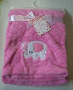 Baby Blanket, Elephant Design By Zak & Zoey, Girl, Bright Pi