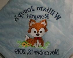 Baby Blanket Embroidered Personalized Monogrammed  Choices