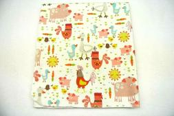 Baby Blanket Farm Animals Roosters Pigs Ducks Can Be Persona