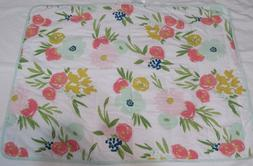 Cloud Island Baby Blanket Floral 30x40 baby girl bedding nwo
