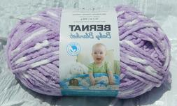Bernat Baby Blanket in Violet Posies 10.5oz/300gm - NIP & Sm