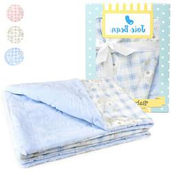 Baby Blanket Infant Security Blanket for Nursery Crib Boy Gi