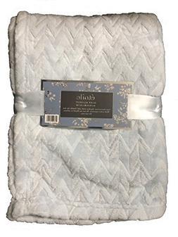 Etoile Baby Blanket Jacquard Weave Velvet Throw - Light Blue