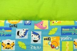 Baby Blanket Jungle Animals Patchwork Double Sided Can Perso
