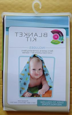 Baby Blanket Kit - Cut & Sew Craft - Easy to Follow Instruct