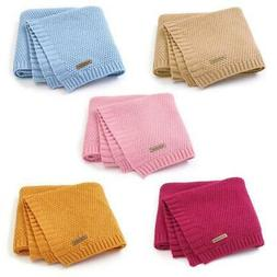 Baby Blanket Knitted Newborn Swaddle Wrap Blankets Toddler I