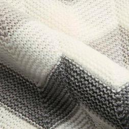 Baby Blanket Knitted Newborn Swaddle Wrap Blankets Super Sof