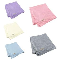 Baby Blanket Knitted Newborn Swaddle Wrap Sofa Bedding Quilt