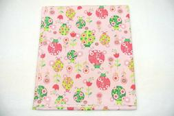 Baby Blanket Ladybugs Flowers Can Be Personalized 36x40