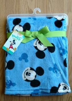 baby blanket mickey mouse heads blue infant