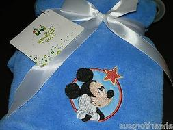 BABY BLANKET DISNEY MICKEY MOUSE SOFT BLUE STARING AT STAR C