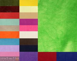"""Baby Blanket Minky Solid Fabric / 60"""" Wide / Sold By The Yar"""