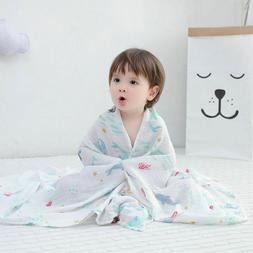 Baby Blanket Muslin Swaddle Wraps Cotton Bamboo Baby Blanket