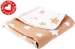 100% Organic Flannel Baby Blanket for Boy & Girl. Natural So