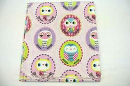 Baby Blanket Owls Cameos Can Be Personalized 36x40""