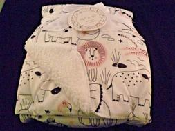 DREAMY NIGHTS BABY BLANKET PINK BLACK LION RHINO TURTLE  JUN