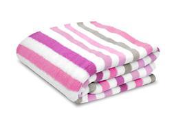 Baby Blanket Pink Polka Dot Plush Toddler Bedding Throw Nurs