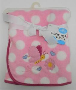 BABY BLANKET PLUSH - CRIBMATES BUTTERFLY POLKA PINK GIRL - C