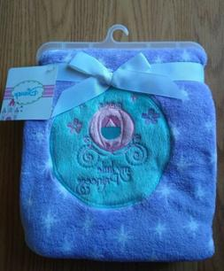 DISNEY Baby Blanket Princess Carriage Infant Lovey Girls Pur