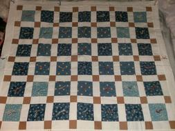 Baby Blanket Handmade Quilted Lap Throw Nursery Bedding Beig