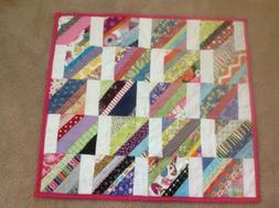 Baby Blanket Handmade Quilted Lap Throw Nursery Bedding