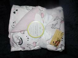 BABY BLANKET LOLLYPOP RAINBOW UNICORN CASTLE PINK WHITE MINK