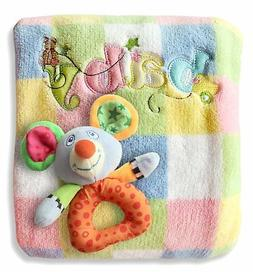 Baby Blanket & Rattle Gift Set For Boys Or Girls! Best Quali