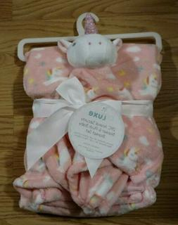 Babe Luxe Baby Blanket Security Set Infant Unicorn Pink Girl