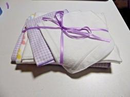 Baby Blanket sets;1 Receiving, 2 burp, & 2 wash cloths;  lav