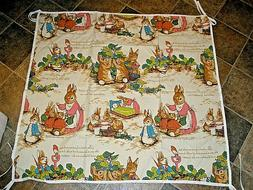 "Handmade Baby Blanket Sheet with Tie Ends PETER RABBIT 42"" X"