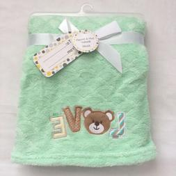 Teddy Bear L28 M Soft 30x40 Boys Green Girls Baby Blanket Shower Gift