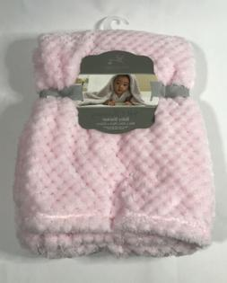 "Adirondack Baby Blanket Soft & Shimmery 30"" x 40"" Cute Pink"