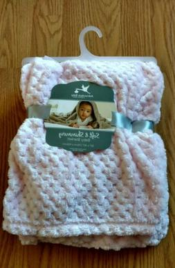 ADIRONDACK Baby Blanket Soft and Shimmery Pink Infant Lovey