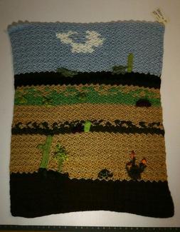 """Baby Blanket Soft cactus desert art 29"""" by 33""""    i5"""