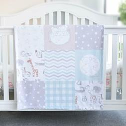 Baby Blanket Soft Minky with Double Layer Unisex Cute Animal