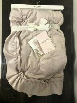 Baby Blanket Dream Dust Soft  Velvet Light Blush Pink 30x40