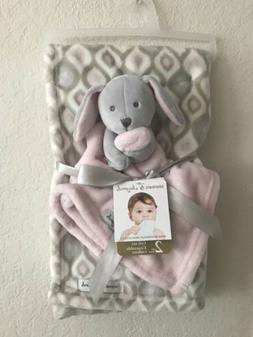 Baby Blanket/stuffed Animal Gift Set
