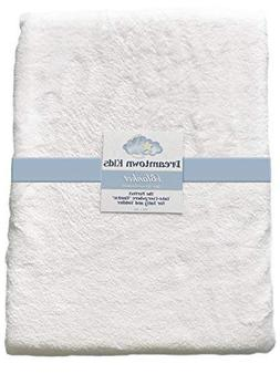 Baby Blanket 40x30 White Super Soft Fleece for Newborns, Tod