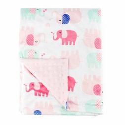 Boritar Nursery Receiving Blankets Super Soft Minky with Dou