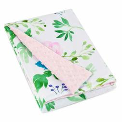 Boritar Baby Blanket Super Soft Minky Floral Multicolor Prin