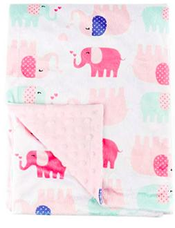 Boritar Baby Blanket Super Soft Minky with Double Layer Dott