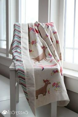 Baby Blanket, Sweet Forest Creatures,100%Flannel Cotton, New