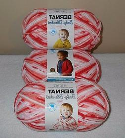 """Bernat Baby Blanket """"Tiny"""" Yarn Lot Of 3 Skeins  3.5 oz.Skei"""