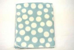 Baby Blanket Toddler Polka Dot Can Be Personalized 28x44 Blu