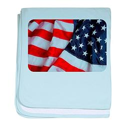 Royal Lion Baby Blanket US American Flag Waving HD - Sky Blu