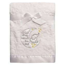 Baby Blanket with Satin Applique I Love You to The Moon and