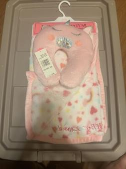 Betsey Johnson Baby Blanket With Support Pillow