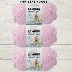 Bernat Baby Blanket Yarn  Super Bulky 3 Pack Baby Pink 16110